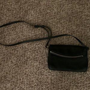Frye Black Leather Crossbody Purse